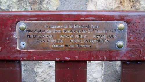 Nameplate, Ibrox Disaster Memorial Bench, Markinch