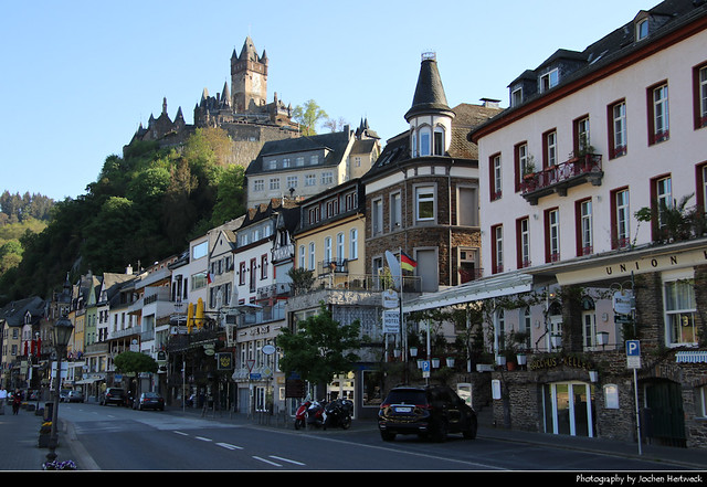View along Moselpromenade, Cochem, Germany