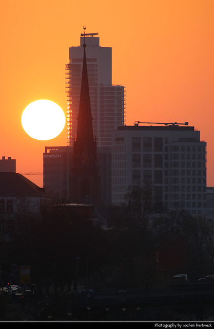 Sunset, Frankfurt, Germany