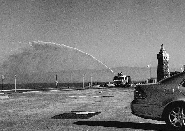 Fire Hose Practice, Yacht Road, San Francisco