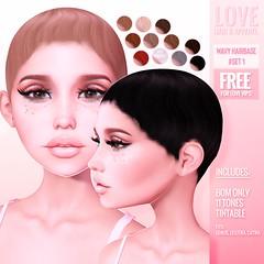 Love [Wavy Hairbase Set #1] @ The Main Store - FREE for Love VIPS!