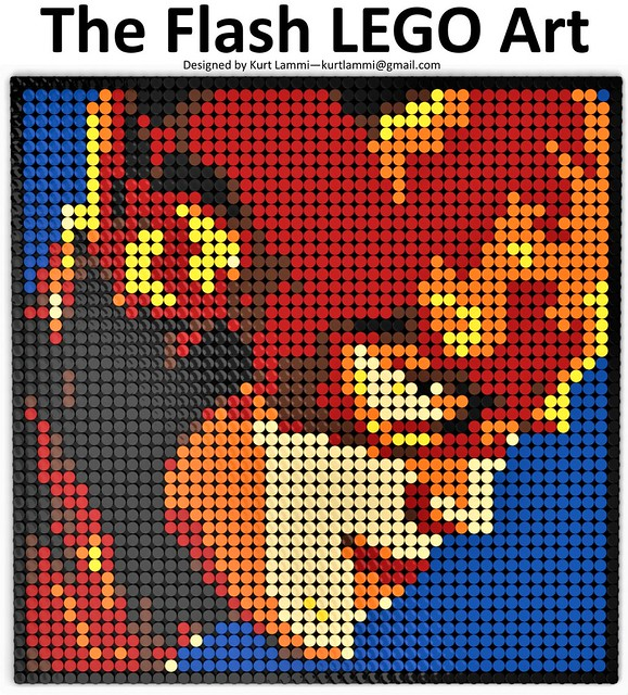The Flash LEGO Art