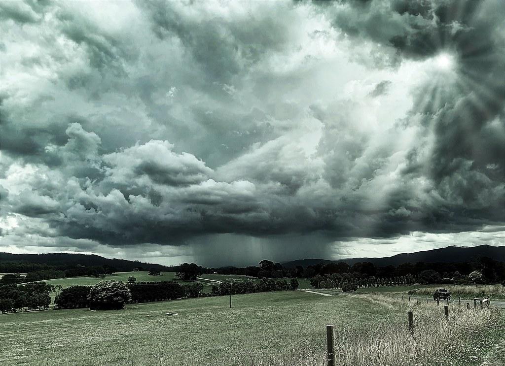 Summer storm clouds