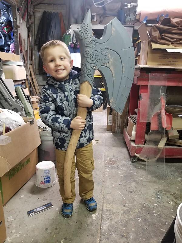Nephew Test Fitting Axe