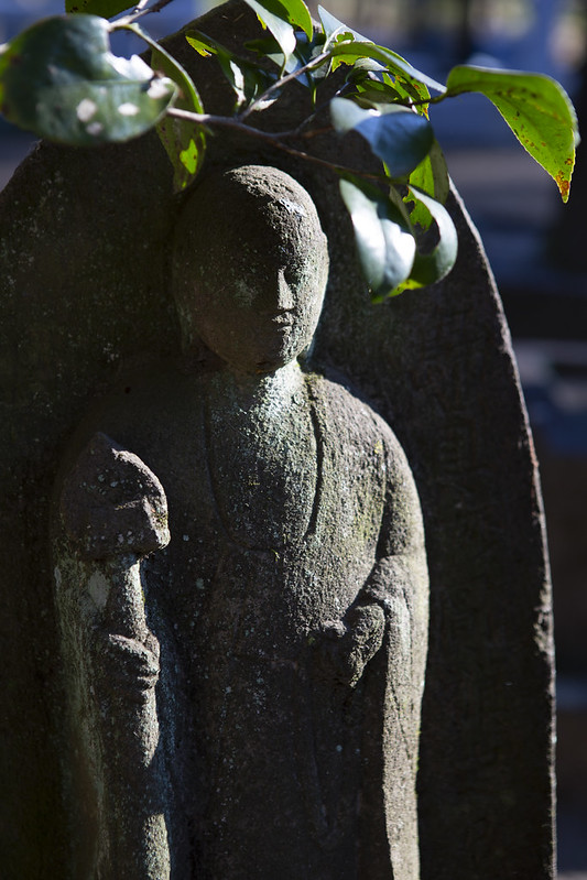 A Monk Statue In Herin-ji Zen Temple, Japan
