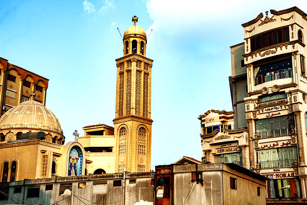 Church of the Blessed Virgin Mary and the powerful saint Anba Musa al-Aswad on 1-1-21--Cairo