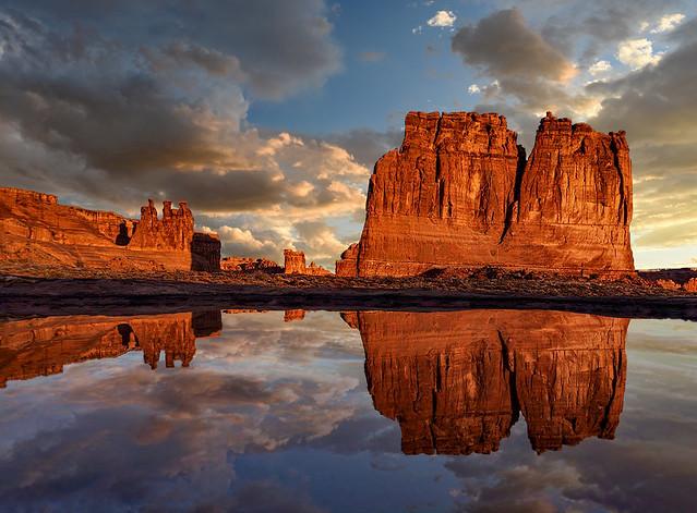 Sunrise Reflection at FlatIron