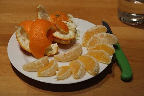 Orange als Nachtisch