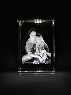 3d crystal glass 3d laser engraving gifts mother's day photo gift