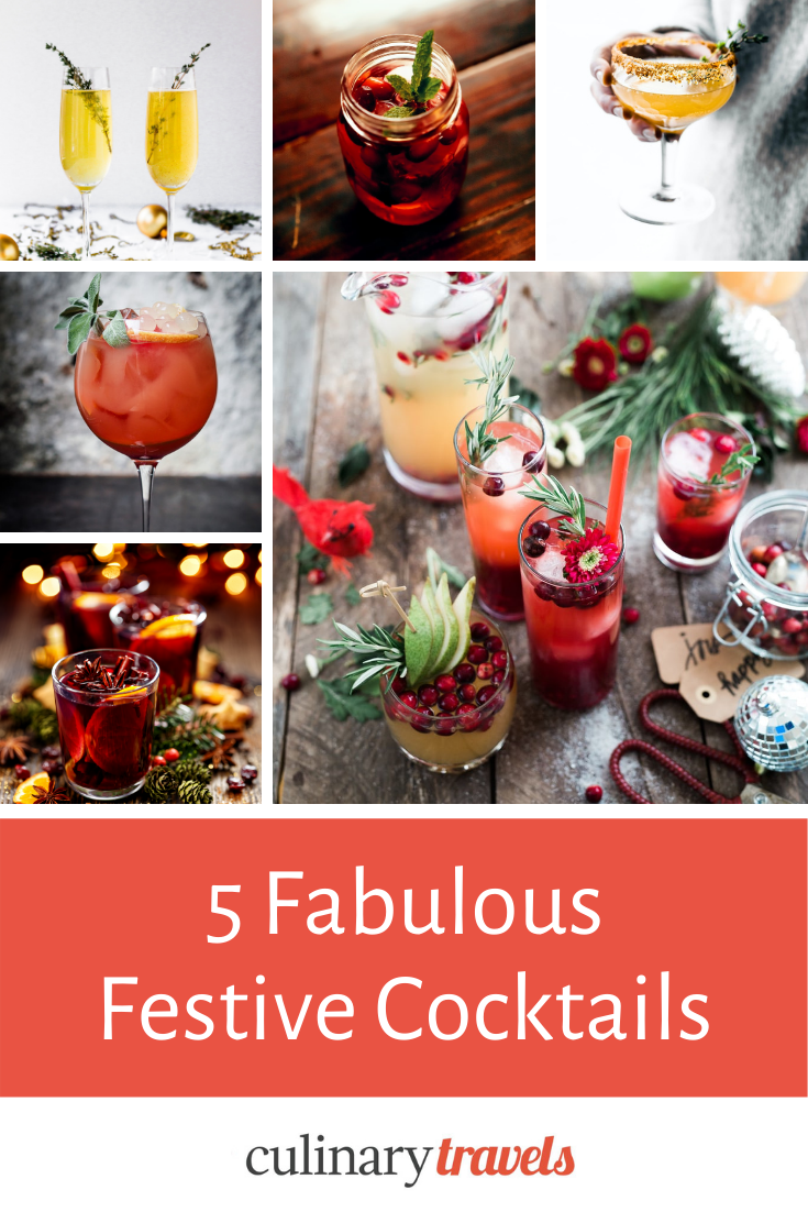 Fabulously Festive Celebration Cocktails - 5 Delicious Recipes to Make at Home