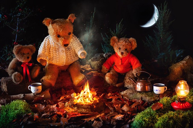 Teddies Round the Campfire.