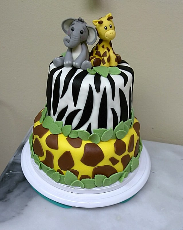 Jungle Themed Baby Shower Cake by TC's Temptations