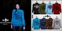 Art&Ko - Sweater with gothic print Set - Darkness