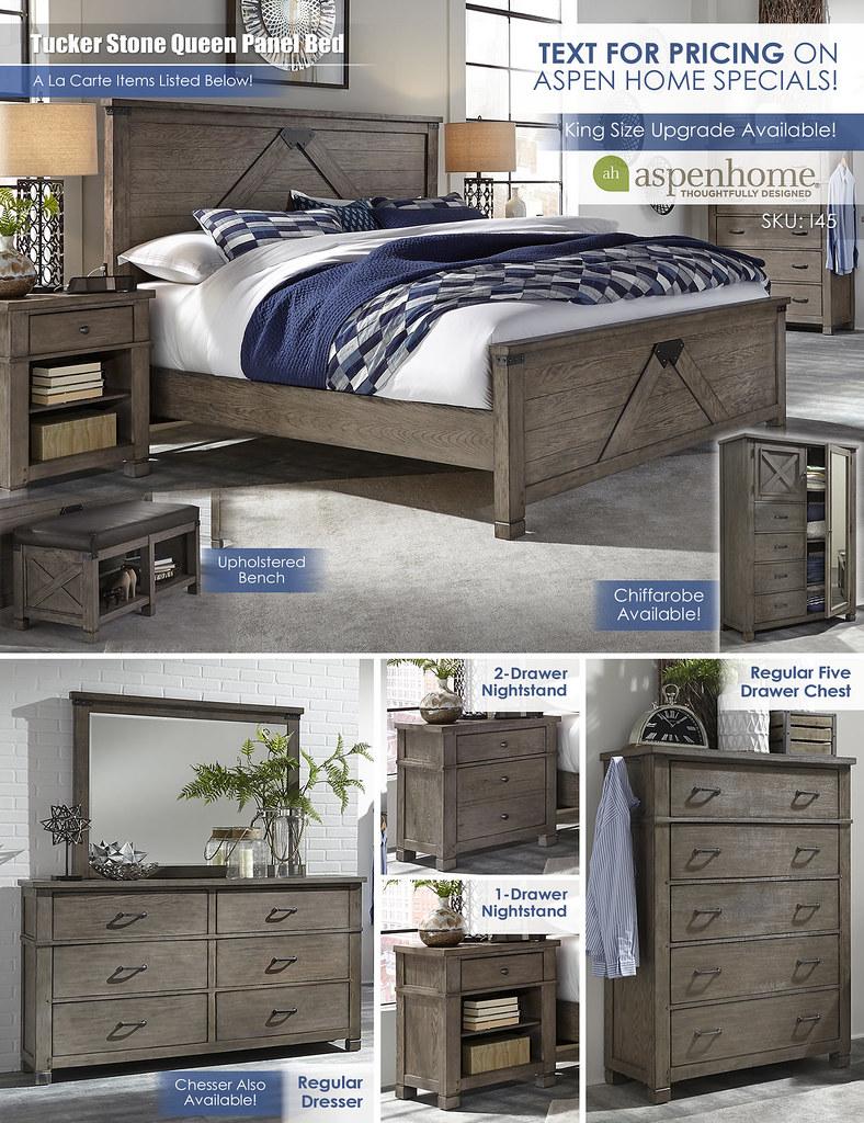 Tucker Stone Queen Panel Bed_Layout_I45_wChiffarobe_NoPricing