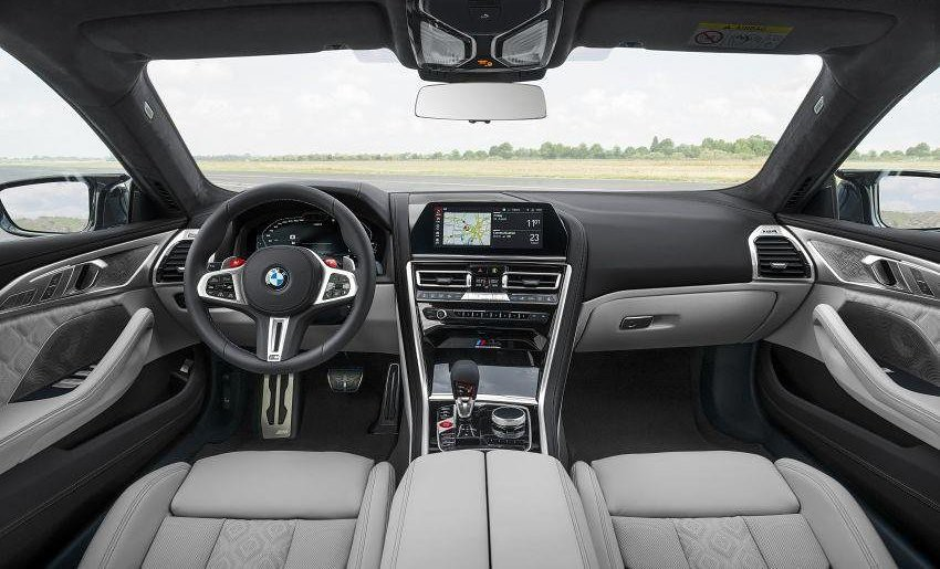 The interior of the BMW M8 Gran Coupe 2019