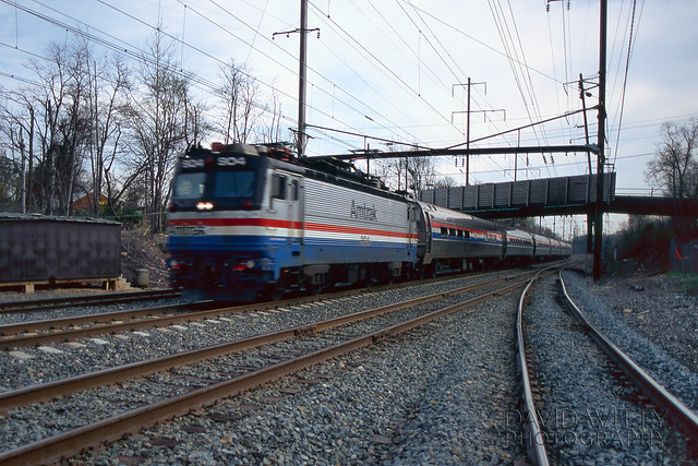 Southbound Metroliner At Bowie