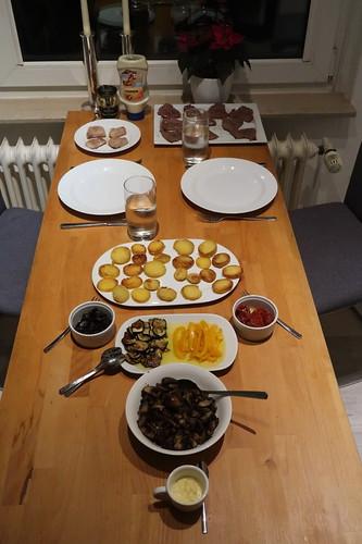 Abendessen aus Resten vom Raclette