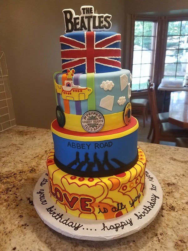 Beatles Theme Cake from For Goodness Cake by Kim