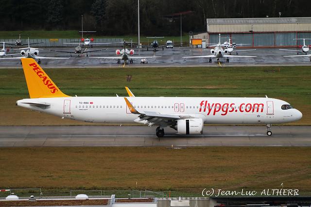 Airbus A321-251NX Neo Pegasus TC-RBA. GVA, January 1. 2021