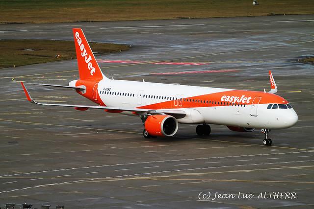 Airbus A321-251NX Neo easyJet G-UZMD. GVA, January 1. 2021