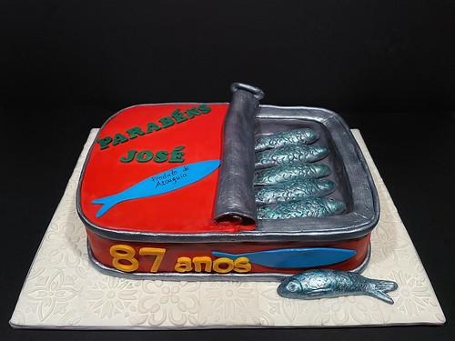 Sardine Tin cake