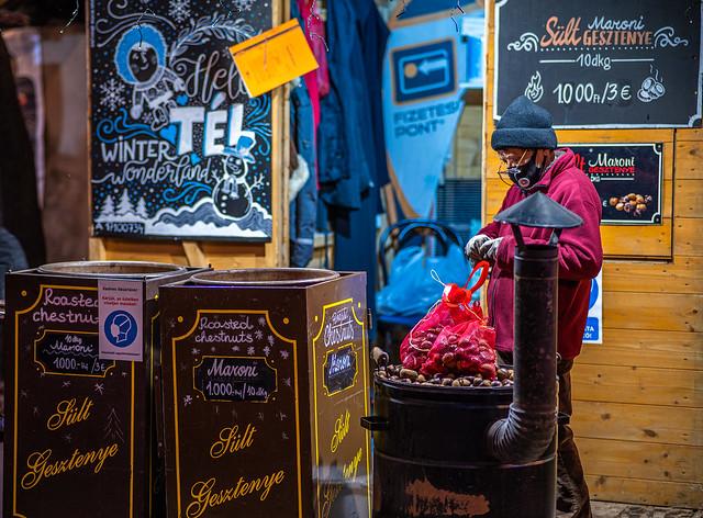 Chestnut vendor at Normafa