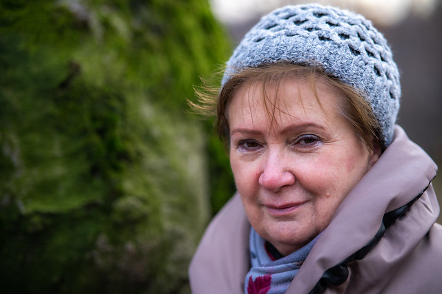 Mother with mossy wood