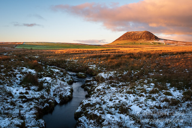 Last of the snow at Slemish