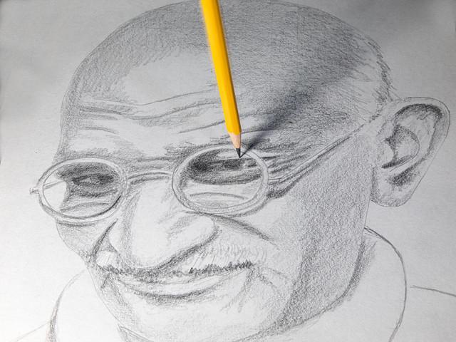 Drawing Gandhi