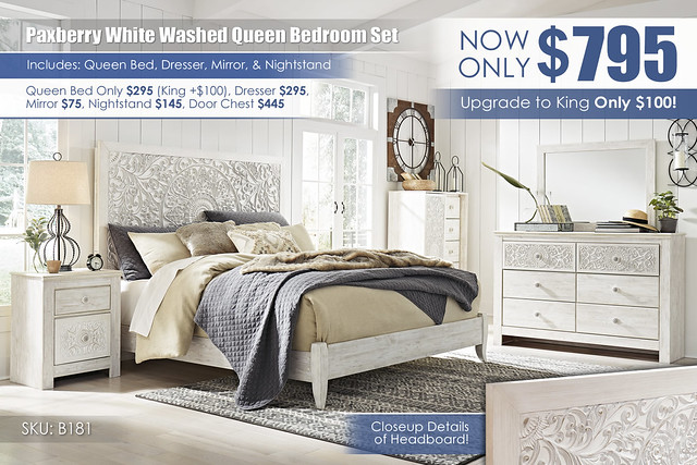 Paxberry White Washed Queen Bedroom Set_B181-31-26-48-58-56-92(2)_Update