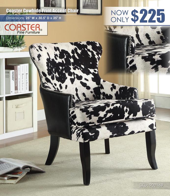 Coaster Cowhide Print Accent Chair_902169