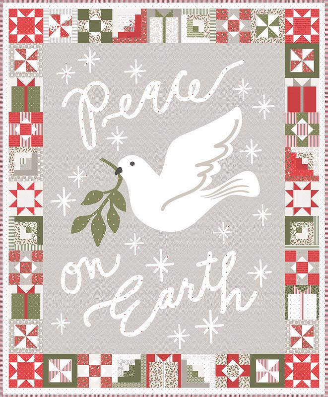 Peace on Earth panel with binding