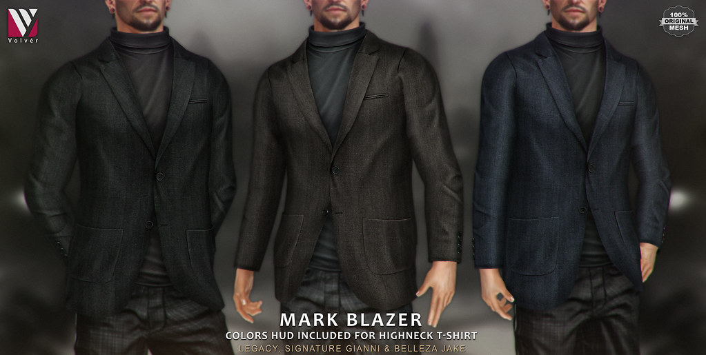 Volver – Mark Blazer with High neck T-shirt