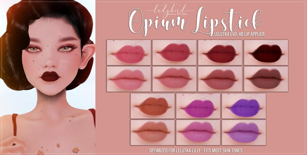 Ladybird. // Opium Lipsticks @ Mainstore! <3