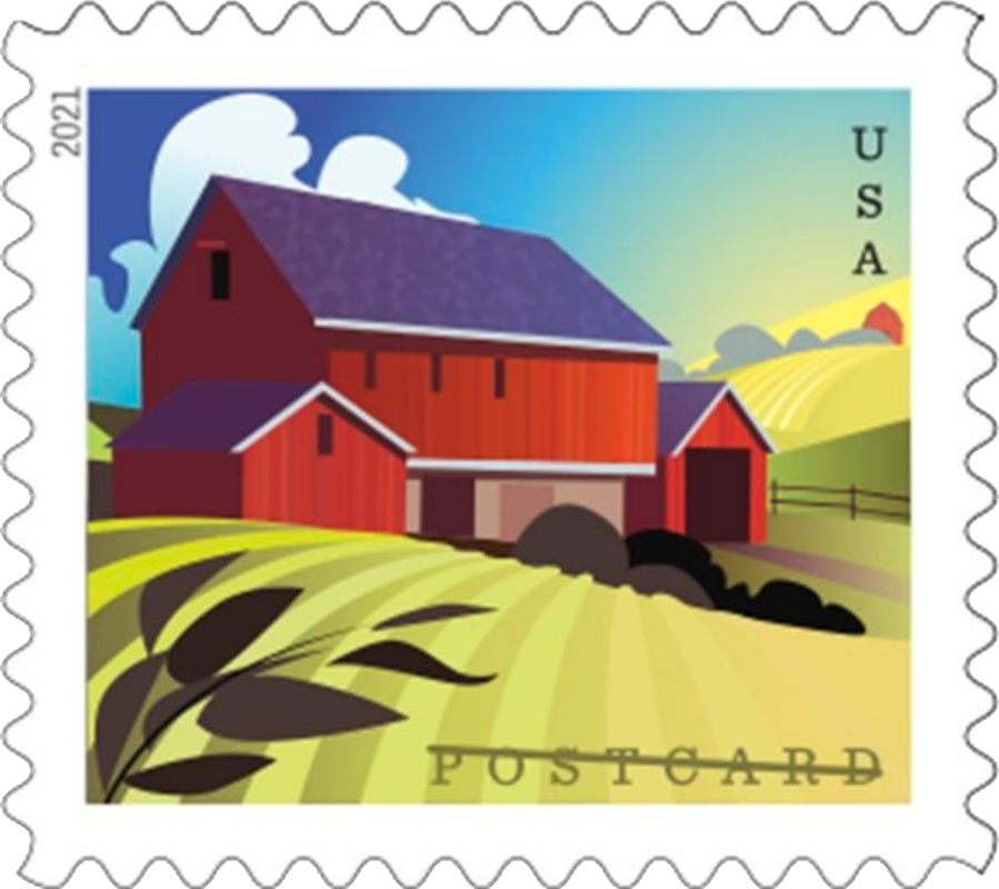 United States: Barns, 24 January 2021 (forebay barn in spring)