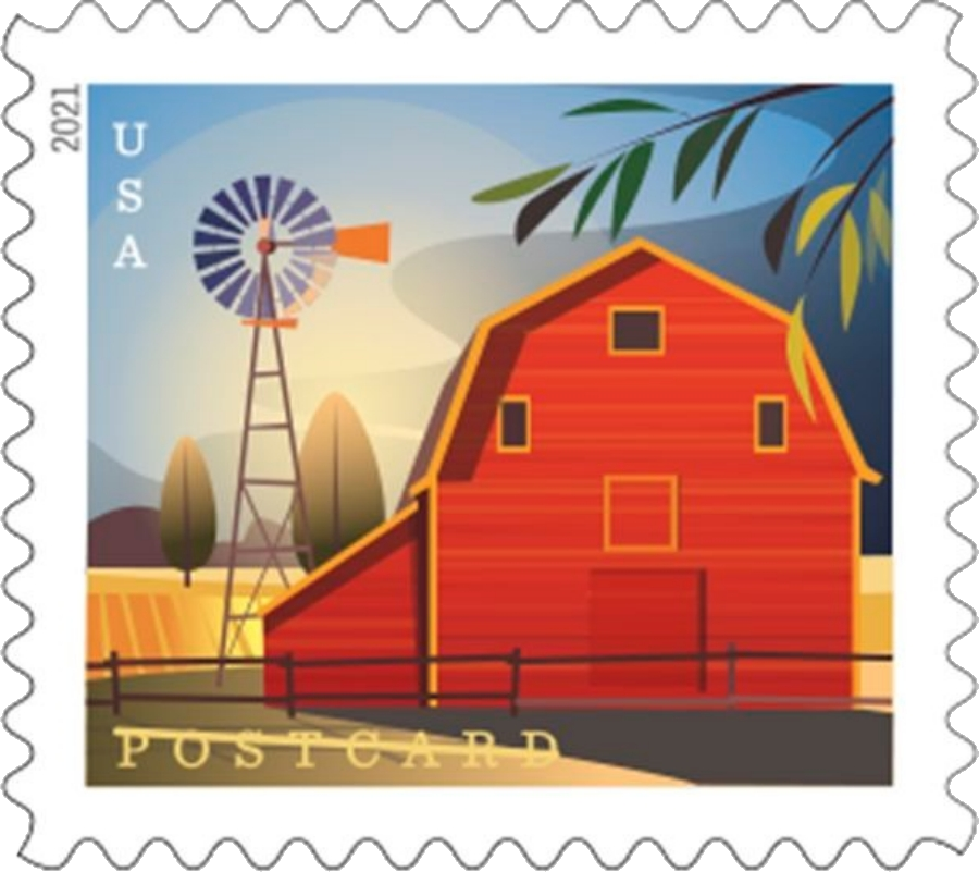 United States: Barns, 24 January 2021 (gambrel-roofed barn in summer)