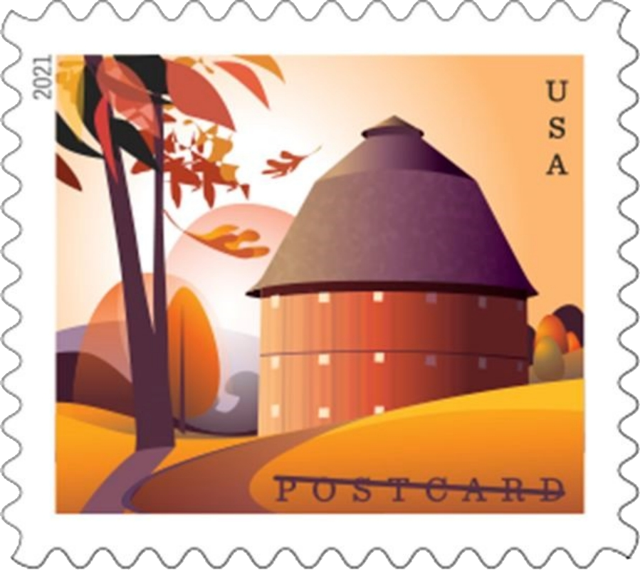 United States: Barns, 24 January 2021 (round barn in fall)