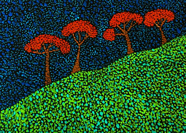 Landscape - Pointillism