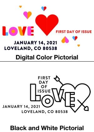 United States: Love, 14 January 2021 (postmarks)