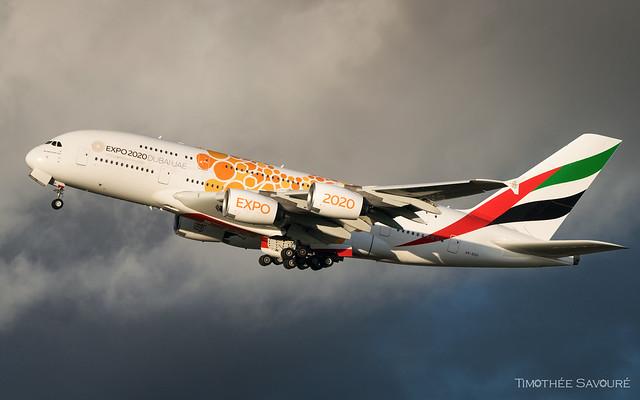 CDG   Emirates 'Expo 2020 - Orange' Airbus A380   A6-EOU