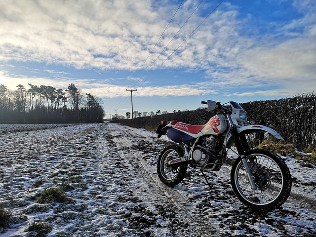 XR600r in the snow