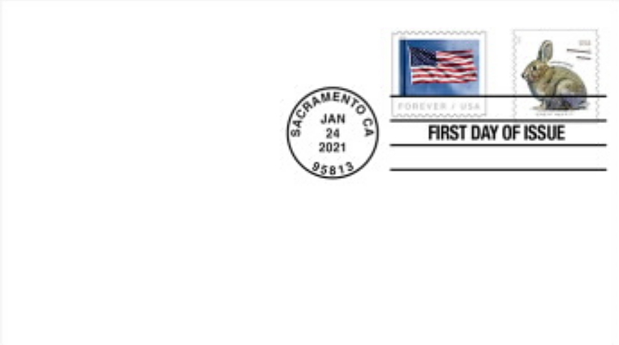 United States: Brush Rabbit, 24 January 2021 (first day cover)