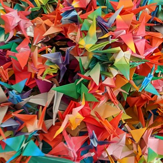 Origami cranes | by Dave Cross