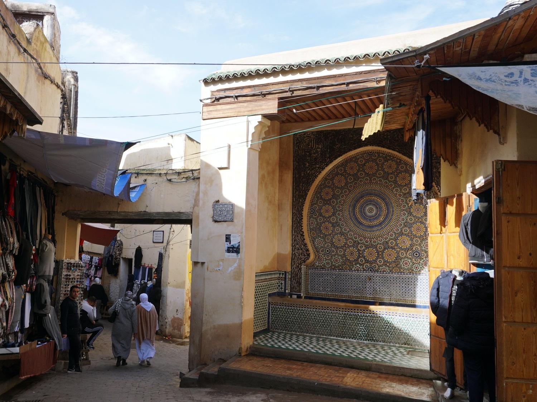 Fes Medina fountain