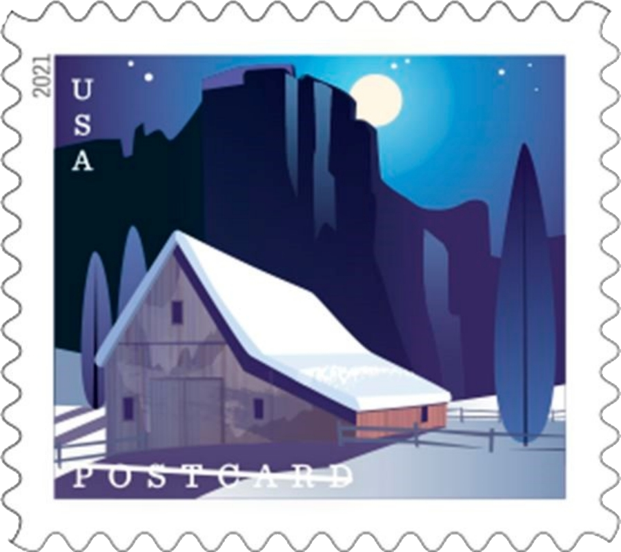 United States: Barns, 24 January 2021 (Western barn in winter)