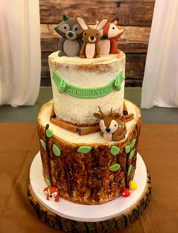 Woodland Baby Shower Cake by Mona's Sweet Spot