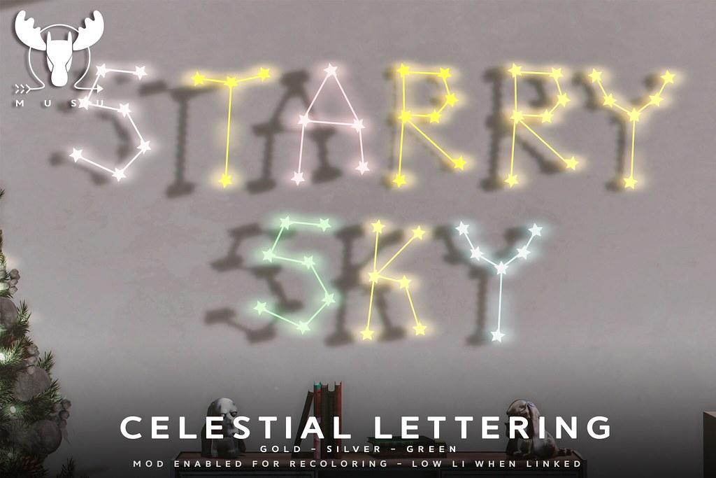 -MUSU- Celestial Lettering @ Anthem