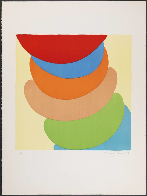 Red, Blue, Orange on Yellow, 1969