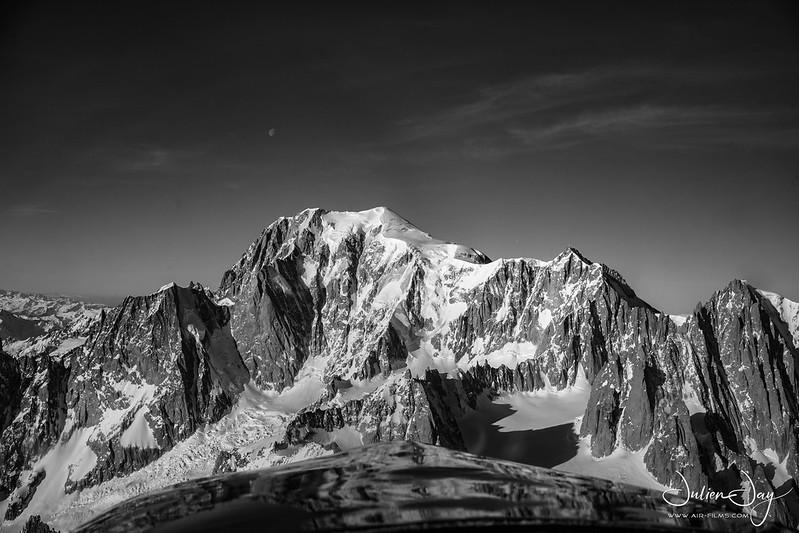 Le Mont Blanc vu du Ciel