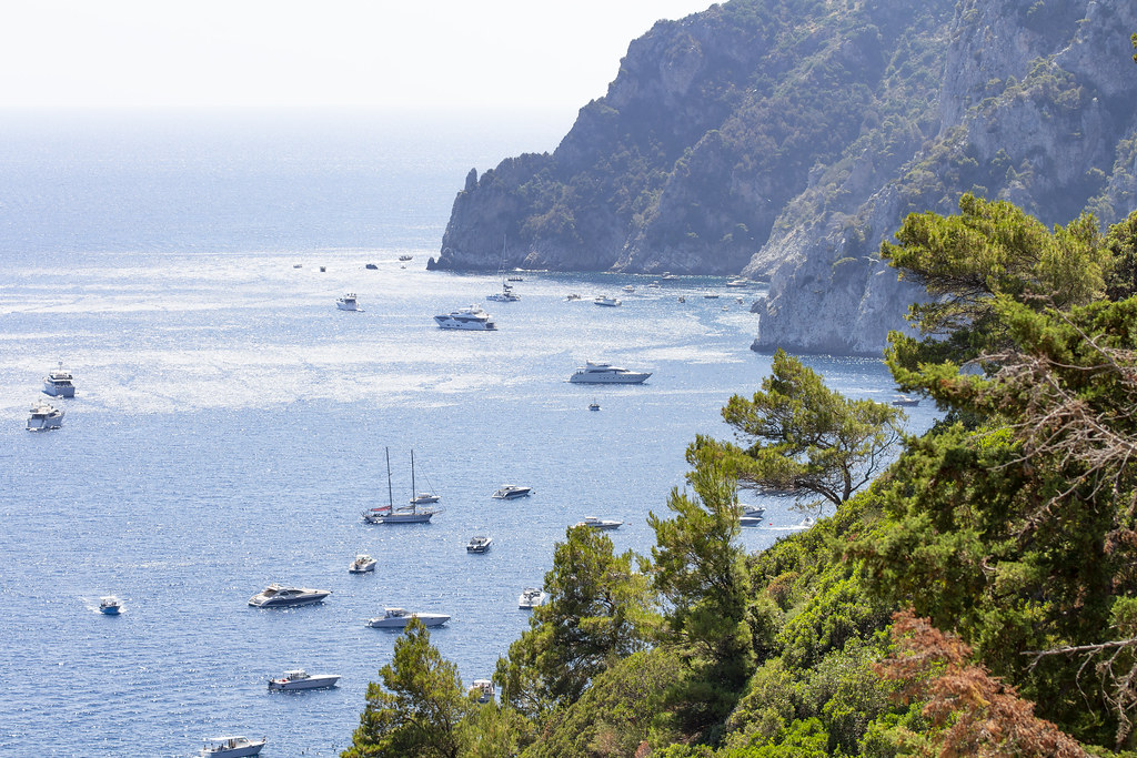 view from  Gardens of Augustus on Belvedere of Punta Cannone #2- Capri